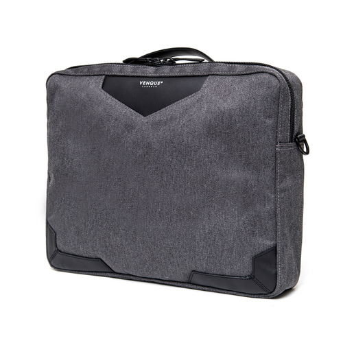 백스테이VENQUE  Balham Slim Briefcase Dark Grey 벤크 서류가방