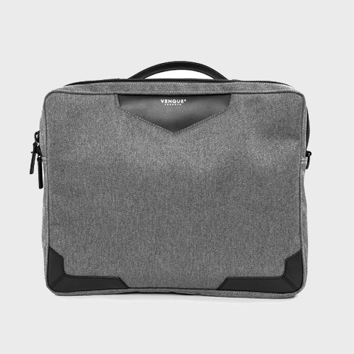 백스테이VENQUE  Balham Slim Briefcase Grey 벤크 서류가방